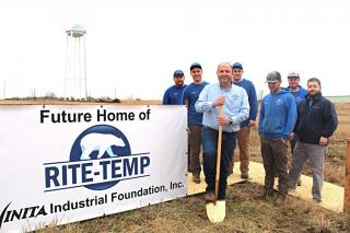Rite Temp groundbreaking in Vinita's Don Yarger Business Park