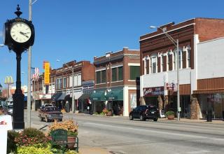Vinita Oklahoma historic downtown on Route 66