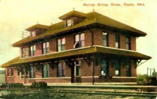Vinita Oklahoma railroad Harvey House