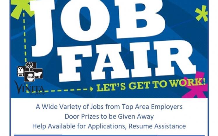 Vinita Oklahoma job fair hiring event help wanted